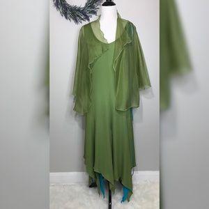 Yolanda Lorente Silk Organza Dress With Jacket